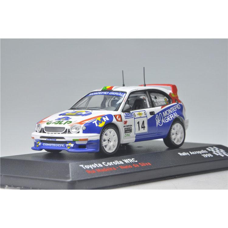 Special 1:43 IXO Toyota corolla WRC Acropolis rally in 1998 14.(China (Mainland))