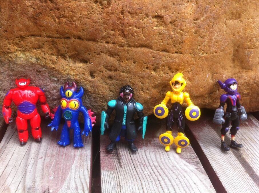 5pcs/lot Big Hero 6 PVC figures Fred Tomago Honey lemon Wasabi friends Action Figure doll toys Free Shipping(China (Mainland))