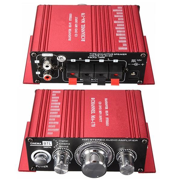 Fashion Mini 2CH Hi-Fi Stereo MA-150 12v 2A Car Amp