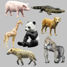 Farm wild animal model of orangutans panda giraffe Golden retriever hyenas swine animal model Simulation model of animal toys(China (Mainland))
