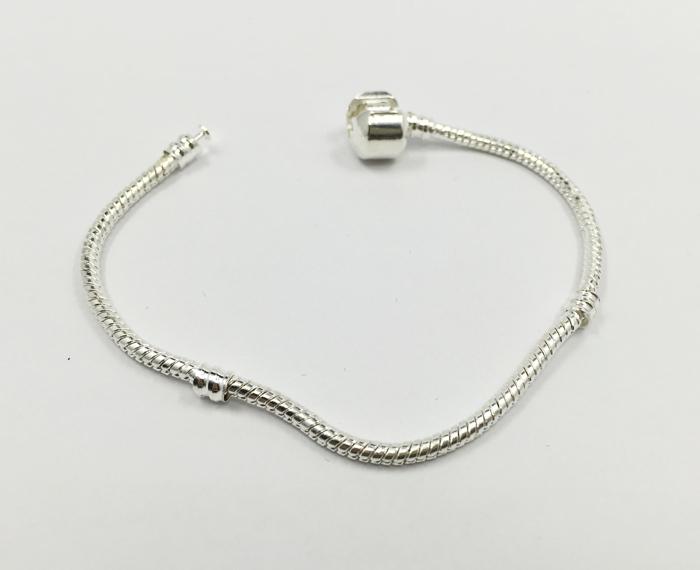 Fashion Silver Bracelet women Snake Bangle European Charm Beads bracelet Fits Pandora Bracelets Chain