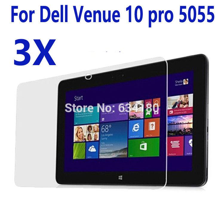 3pcs Screen Protectors Film Cases for Dell Venue 10 pro 5055 tablet(China (Mainland))