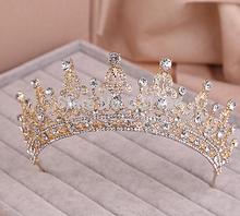 Red/Clear Wedding Bridal Crystal Tiara Crowns Princess Queen Pageant Prom Rhinestone Veil Tiara Headband Wedding Hair Accessory(China (Mainland))