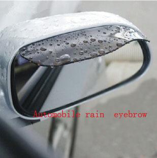 Universal Flexible PVC Car Accessories Rearview Mirror Rain Shade Rainproof Blades Car Mirror Eyebrow Rain Cover 2Pcs/pair(China (Mainland))