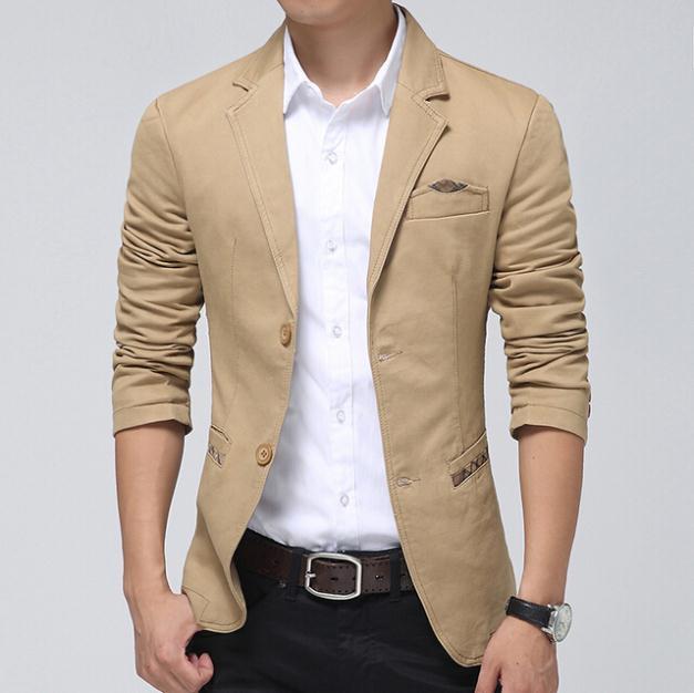 Blazer Men Khaki,brown