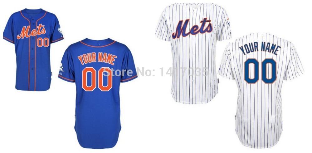 2015 New Customized New York Mets Baseball Jersey Personalized Embroidered Logos Stitch Shirt(China (Mainland))