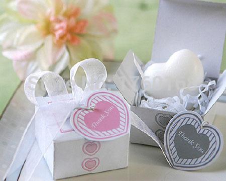 Moda criativa hearted sabão com caixa de presente fino e delicado de seda uso de favores do casamento e festa e festa(China (Mainland))