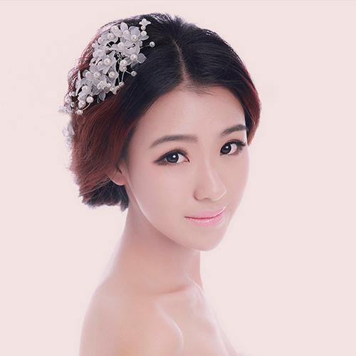 Hot Fashion Elegant Charming Women Bridal Wedding Faux Pearl Flower Hair Pin Clip Comb Headband Hairpin(China (Mainland))