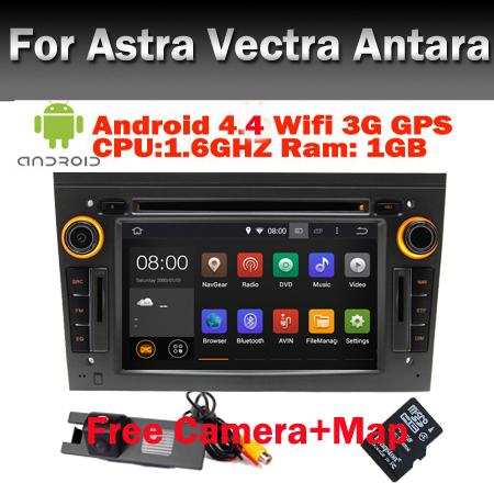 Free Camera+Map Opel Astra H Android 4.4 Car DVD Vectra Antara Wifi 3G Bluetooth Radio RDS TV USB IPOD Steering Wheel Control(China (Mainland))