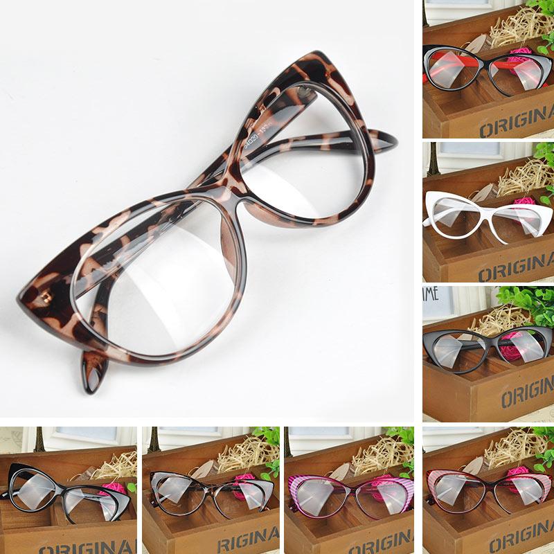 Free Shipping 2015 New Designer Cat Eye Glasses Retro Fashion Black Women Glasses Frame Clear Lens Vintage Eyewear XHM458#S3(China (Mainland))