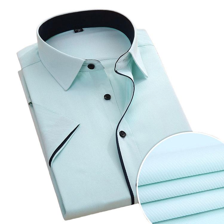 New Arrival Short Sleeve Men Shirt Business Formal Solid Color Summer Brand Designer Twill Fashion Luxury Socila Shirt S-4XL(China (Mainland))