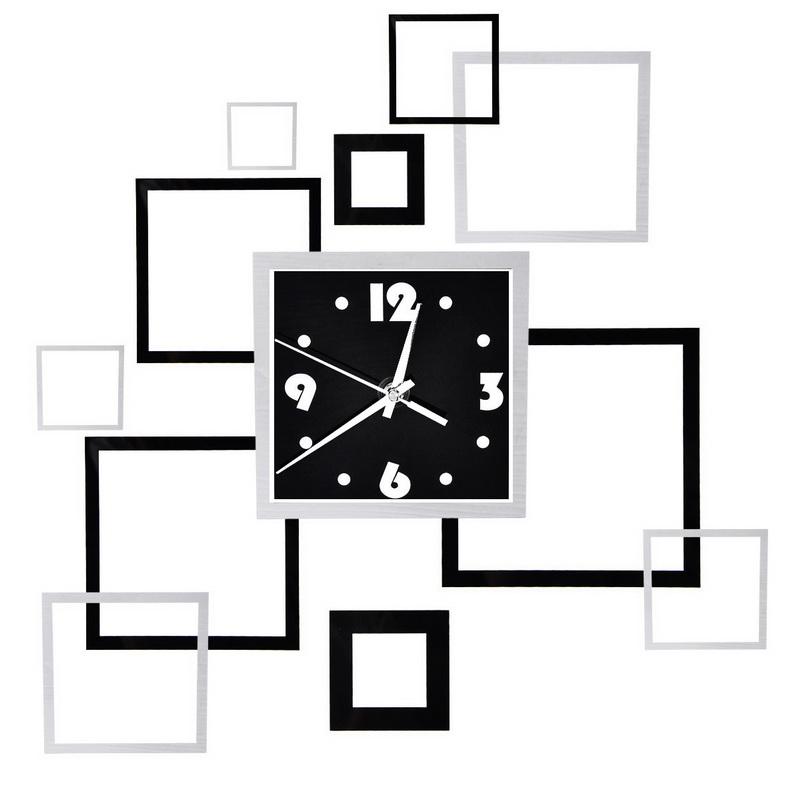 Homeusing 1PC Mirror Surface Clock Mural Modern Room DIY Frame Wall Sticker Home Decor 16.5cm x16.5cm(China (Mainland))