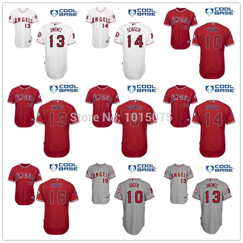 Aliexpress.com: Comprar Los Angeles Angels Jersey 8# John mcdonald ...