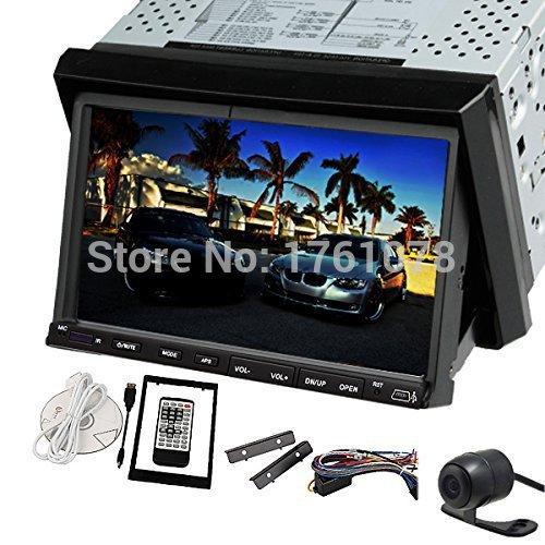 "2 Din Car PC 7"" Digital In Dash Car Video DVD Player Radio Stereo iPod Steering wheel Mic+AUX+Car CD Player+Bluetooth+FM Radio(China (Mainland))"
