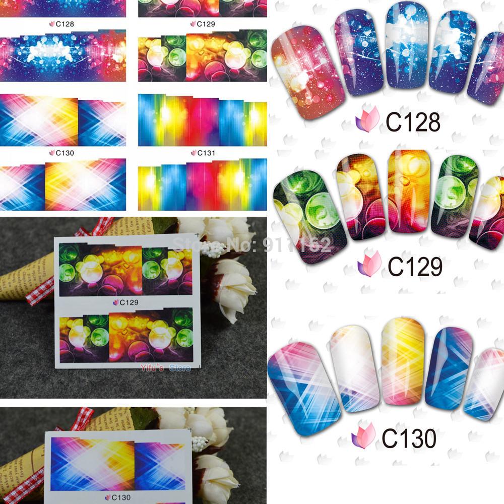 Наклейки для ногтей Yifu's store 1sheets c128/131 C128-131 managing the store