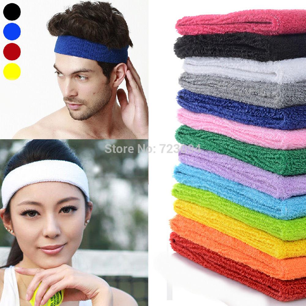 2015 hot selling Ladies Mens Sports Headband Hairband Stretchy Sweatbands Yoga Gym Hair Head Band(China (Mainland))