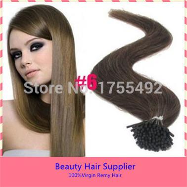 3A grau humano virgem fusão cabelo da ponta vara duplo Drawn eu - dica queratina do cabelo brasileiro hetero pré ligado produtos de cabelo 05 g/s(China (Mainland))