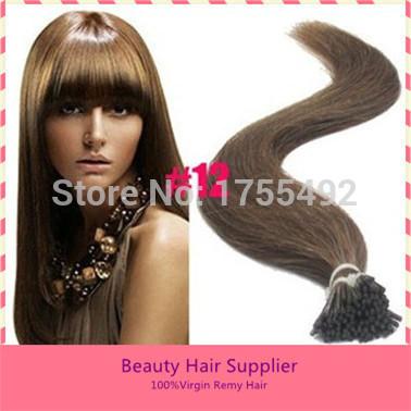 Atacado 100% brasileira humano virgem queratina fusão extensão do cabelo i-ponta 50 g/lote 6A grau Remy pré ligado extensões do cabelo(China (Mainland))