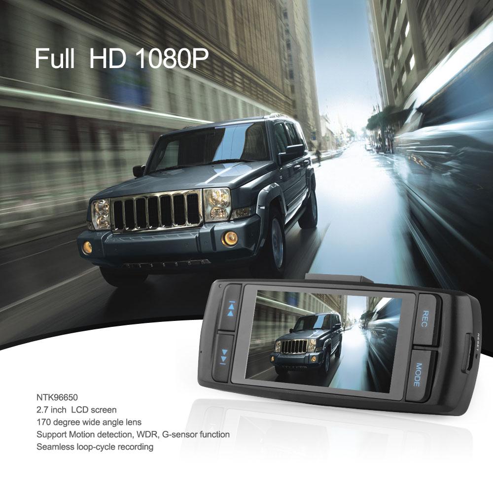 NTK96650 AT22 Car DVR Recorder Camera Full HD 1080P 30fps 2.7'' LCD G-sensor WDR Motion Detection 170 Angle Digital Zoom(China (Mainland))