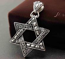 Huge Big Star of Magen David Men's Judaism Jewish Pendant Charm P7979(China (Mainland))