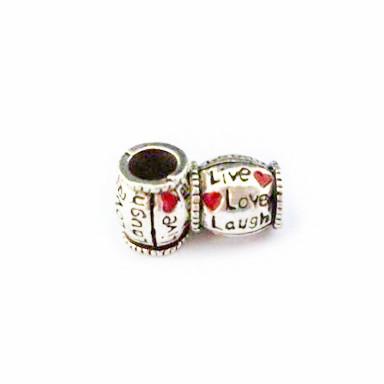 Free Shipping 1pc Silver Bead Charm European Enjoy Life Heart Fashion Bead Fit Pandora Bracelets Necklace