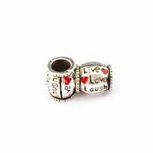 Free Shipping 1pc Silver Bead Charm European Enjoy Life Heart Fashion Bead Fit Pandora Bracelets & Necklace