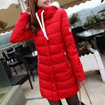 Пуховик хлопок - мягкий, женщины парка зима осень марка конфеты цвет длинная толстый ватным пальто 300
