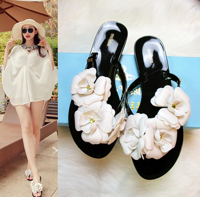 2015 Summer Slippers New Flip Flops Women Sandals Female Drag Sandals jelly sandals slippers(China (Mainland))