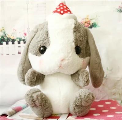 Sitting Height 40cm New Japan Export Amuse Lop Ear Rabbit Stuffed Plush Dolls Toy Big Head Long Ear Rabbit Gift(China (Mainland))