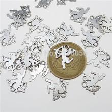 Free Shipping 13187 70PCS Antique Silver Tone Fairytale Mini Angle Love Cupid Pendant Charms