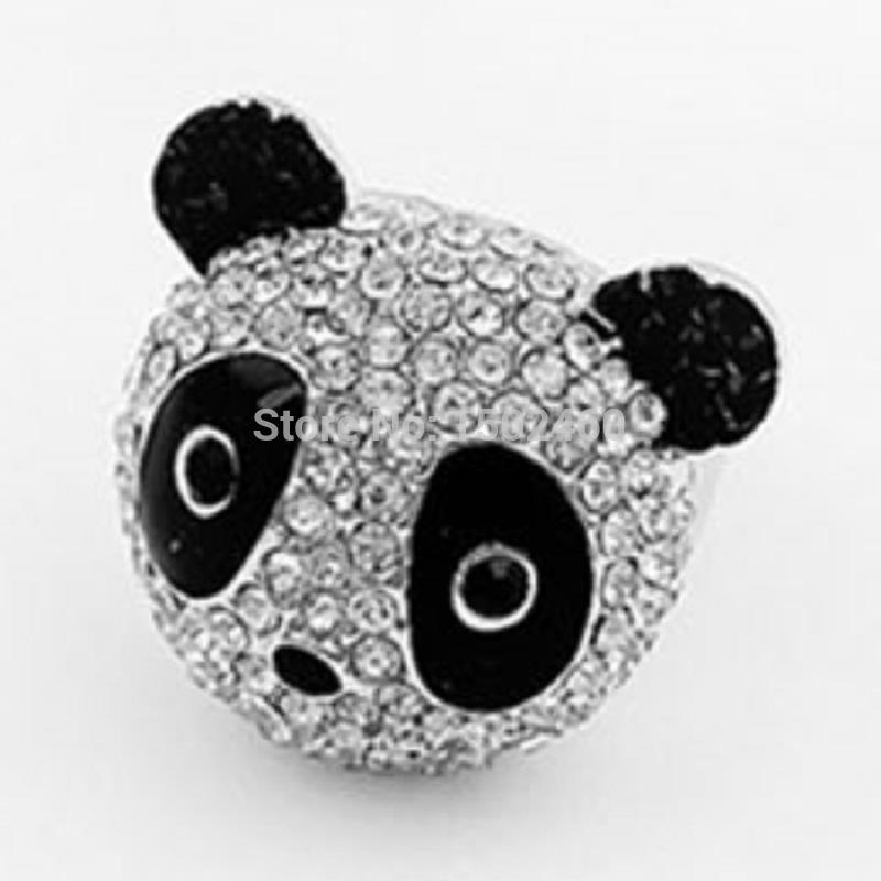 Кольцо 001 bague panda anillos mujer
