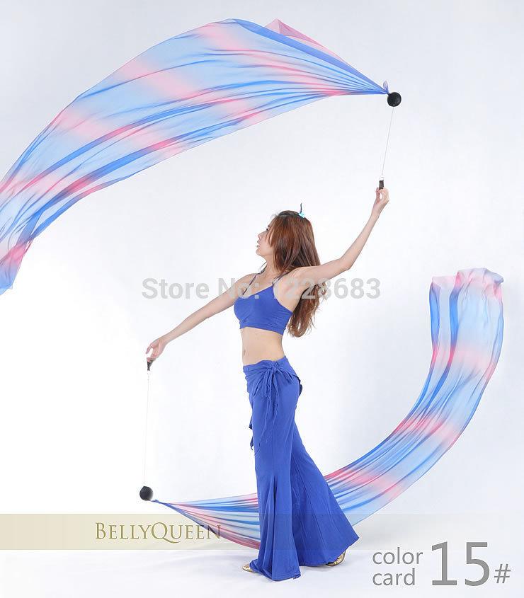 Sexy Indian Belly Dance Costume Women Accessories Gradient Veil Poi Chain Bellydance Wear 1 Veils + 1 Poi(China (Mainland))