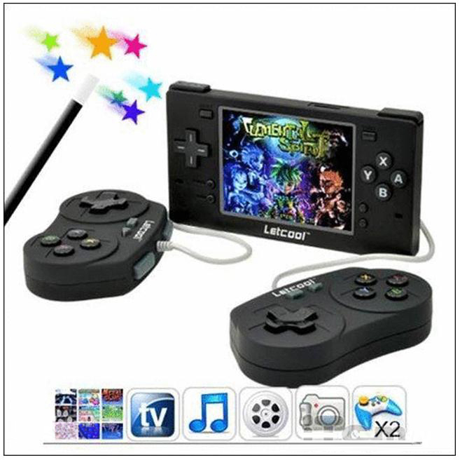 "Free Shipping 3.5"" Portable video game Portable Handheld Game Player console System,MP5\MP4 Player+MP3 Camera for Letcool(China (Mainland))"