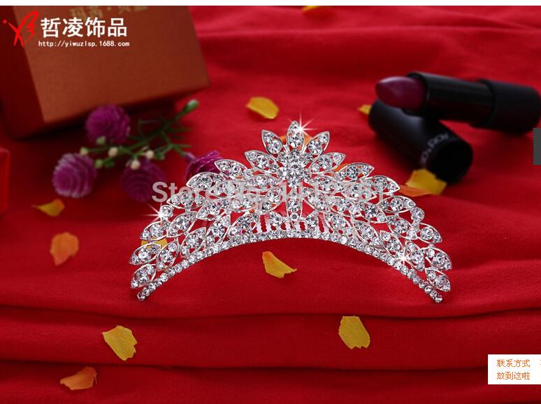 2015 Bling Bling Shinning Rhinestones Embellished Bridal Tiaras or Crowns Bridal Accessories(China (Mainland))