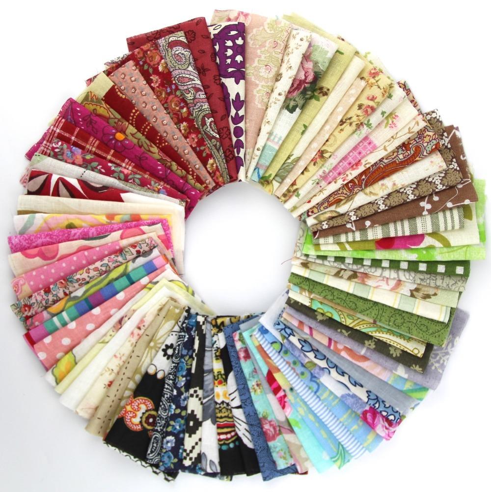 50pieces random color 10cm*10cm Remnant cloth fabric cotton fabric charm packs patchwork fabric quilting tilda creative design(China (Mainland))