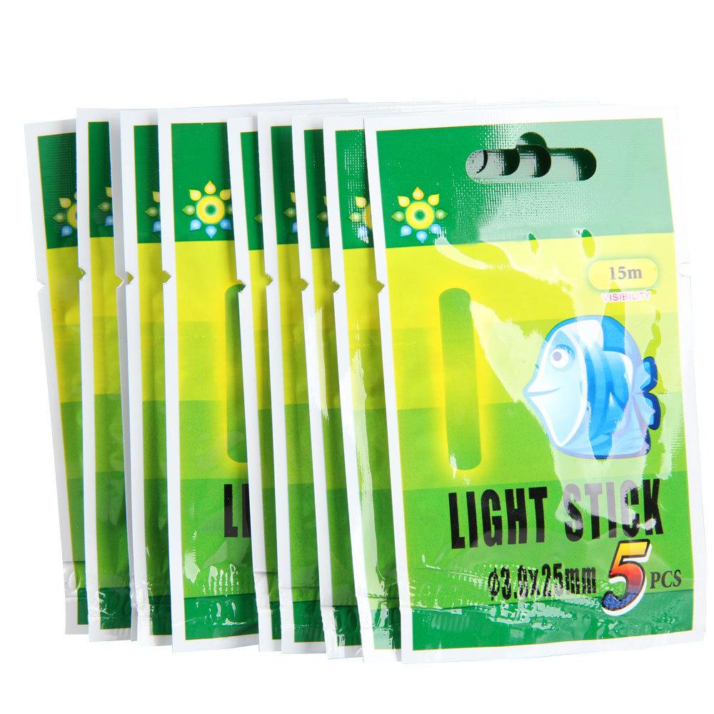 Free Shipping 50Pcs 25mm/37mm Night Fluorescent Float Lightsticks Glow Sticks for Fishing K5BO(China (Mainland))