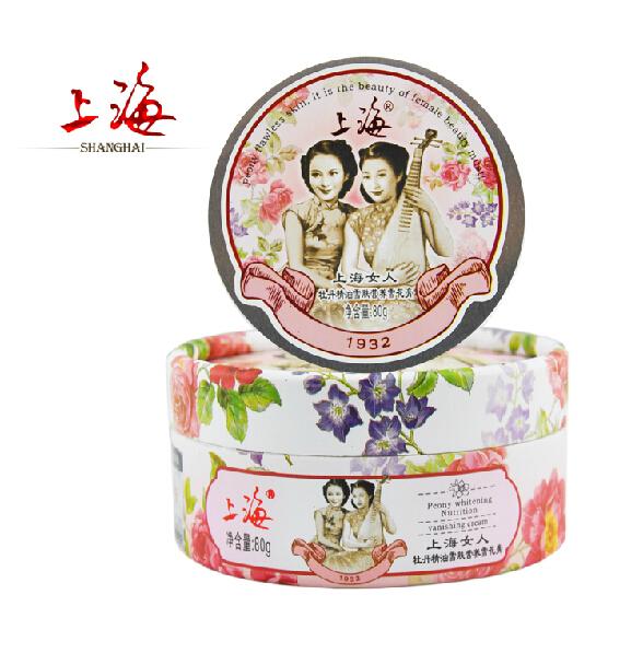Free shipping!Popular!Peony cream fragrance, hydrating cream 80 g, Shanghai face cream authentic goods(China (Mainland))