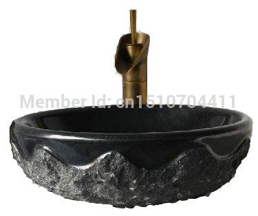Zwart graniet wastafel koop goedkope zwart graniet wastafel loten van chinese zwart graniet - Stenen wastafel ...