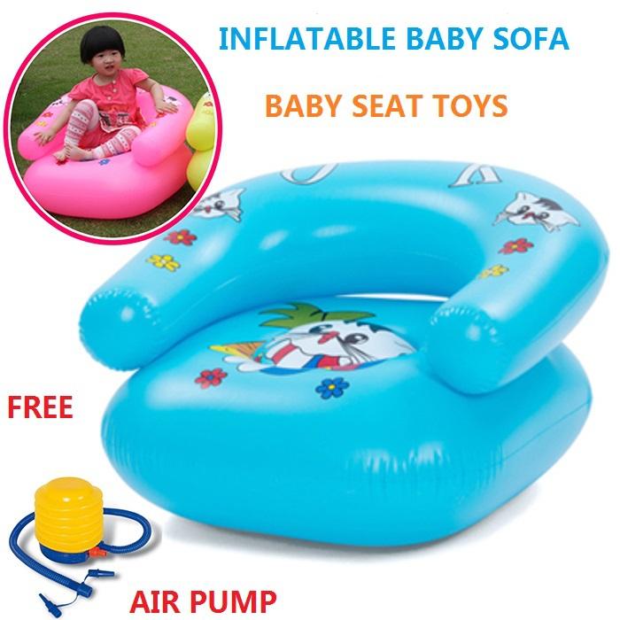 INFLATABLE BABY SOFA (W/ FREE AIR PUMP), INFLATABLE SEAT FOR BABY /SMALL KIDS, BABY FURNITURE, BABY SOFA, MINI SOFA, SHIP FREE!(China (Mainland))