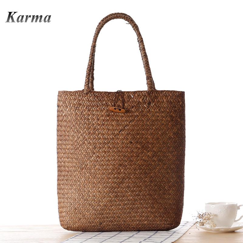 Handbags For Women Grass weaving Simple Pastoral Style Beach Handbag bolsos mujer marcas famosas Designer Brand Hot Fashion 2015(China (Mainland))