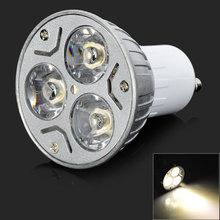 New Arrive GU10 6W AC 220V Warm White 3000K LED Spotlight 3-LED 180lumens LED Lamp LED Light JL*YYDA1221*50(China (Mainland))