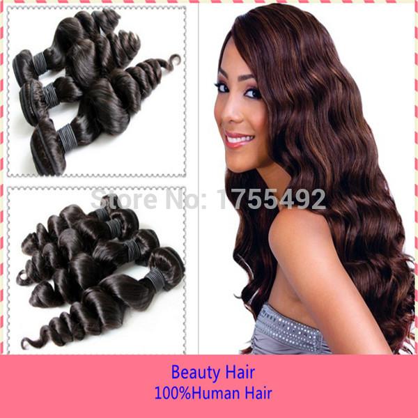8AGrade Double Drawn Human Virgin Remi Hair Weaving European 3PCS Hair Extensions Loose Wave 100% Hair Weft Bundles Extensions(China (Mainland))
