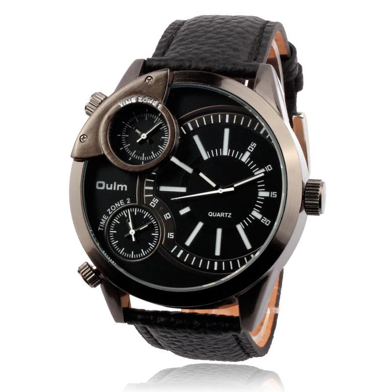 New Arrival Cool Male Watches Qulm Stylish Leather Band Unisex Classic Military Watch Analog Quartz Wristwatch Relogio Masculino(China (Mainland))