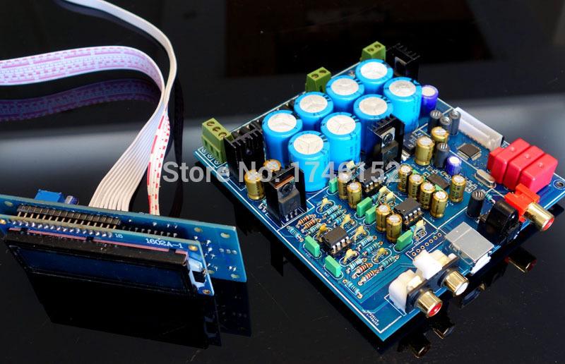 PCM1794 +AK4118 Softwave control+LCD display USB DAC kit(China (Mainland))