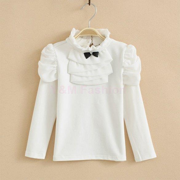 Brand New Spring Girl T Shirt Kids Girls Long sleeve Cotton T Shirt 2015 Fashion Baby Girl T Shirts White Children Clothing(China (Mainland))