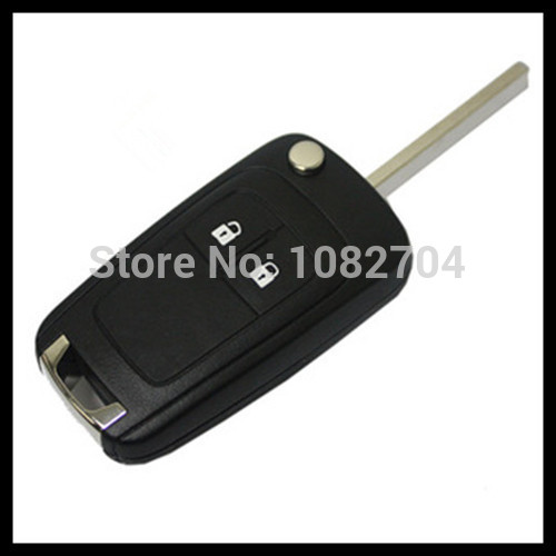 Free shipping for 2button blank flip folding remote key shell for Chevrolet with best price S241(China (Mainland))
