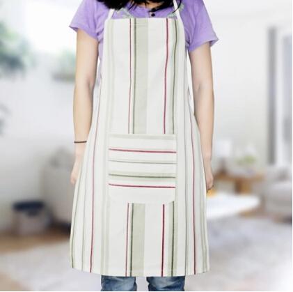 Cotton Canvas Long Neck Lanyard Antifouling Dustproof Sleeveless Stripe Apron Free Shipping(China (Mainland))