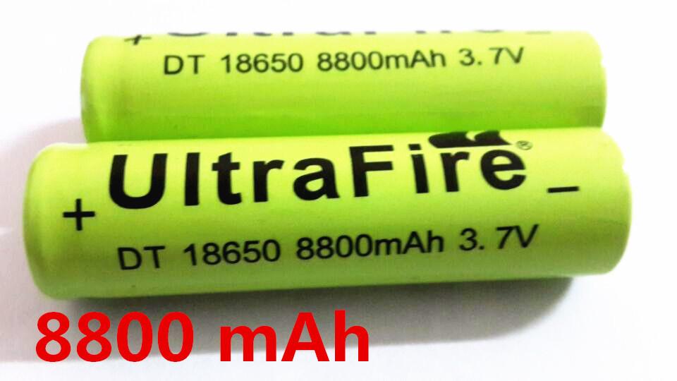 New 2015 hot 2 pcs / lot 18650 battery 8800 mah li-ion 3.7v rechargeable battery for flashlight leds a battery Free shipping(China (Mainland))