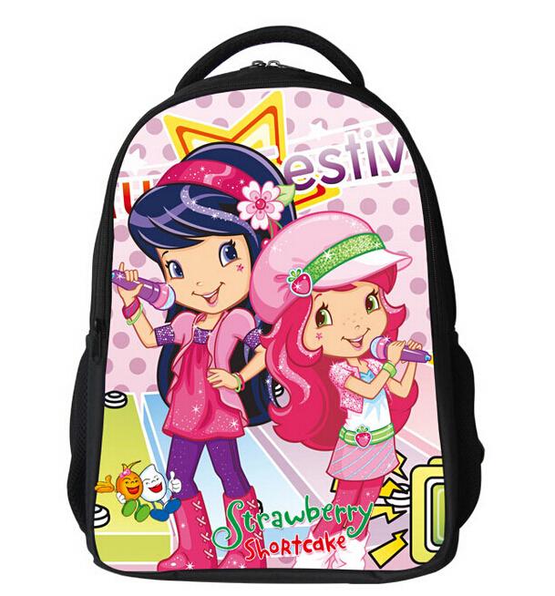 Free shipping Kawayi kids schoolbag Lovely School backpack Children bag strawberry shortcake Schoolbags in stock(China (Mainland))