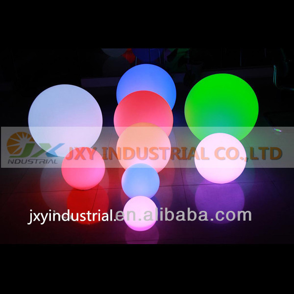 Interesting RGB led ball outdoor diameter 20cm rechargeable,glowing sphere,waterproof pool color changing light ball(China (Mainland))